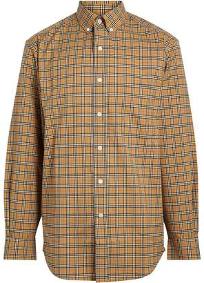 Burberry Small Scale Check Cotton Shirt