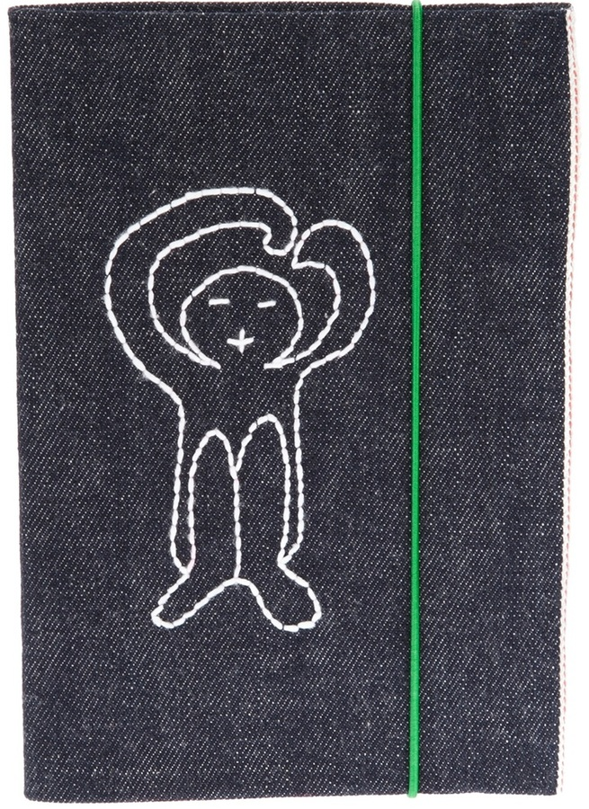 Societe Anonyme embroidered logo sketchbook
