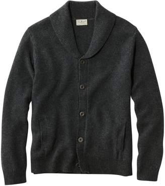 L.L. Bean L.L.Bean Men's Washable Lambswool Sweaters, Seed Stitch Cardigan