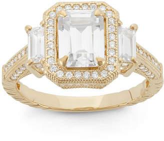 FINE JEWELRY Diamonart Womens 2 1/4 CT. T.W. Lab Created White Cubic Zirconia 10K Gold Engagement Ring