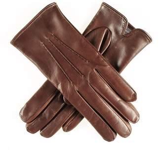 Black Classic Brown Cashmere Lined Leather Gloves