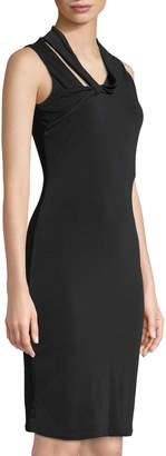 Rachel Roy Axel Sleeveless Body-Con Dress with Neck Tie