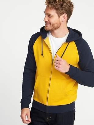 Old Navy Color-Blocked Raglan Zip Hoodie for Men