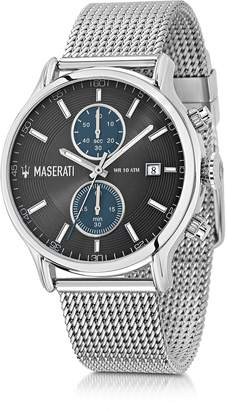 Epoca Maserati Silver Tone Stainless Steel Men's Chrono Watch