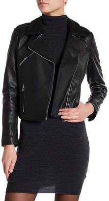 Doma Asymmetrical Zip Leather Jacket $796 thestylecure.com