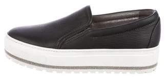 Brunello Cucinelli Leather Monili-Accented Sneakers