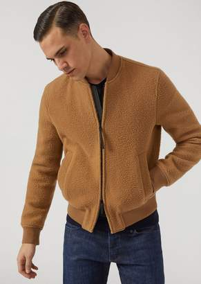 Emporio Armani Virgin Wool Gauze Bomber Jacket