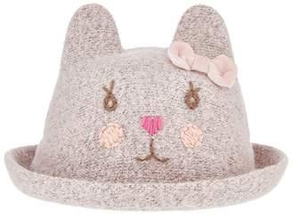 Monsoon Baby Girls' Pink Christie Cat Bowler Hat