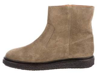 Etoile Isabel Marant Suede Round-Toe Booties
