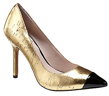 Vince Camuto Harty Metallic Cork Pumps