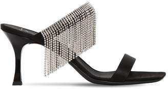 Giuseppe Zanotti Design 70mm Crystal Fringe Satin Sandals