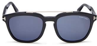 Tom Ford Holt Brow Bar Square Sunglasses, 50mm