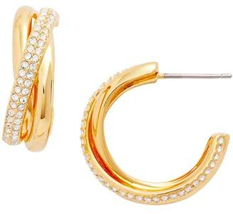 Nadri Trinity Pav? Hoop Earrings