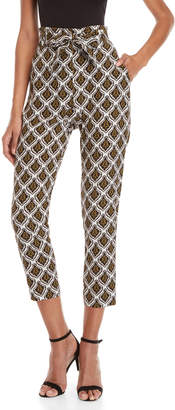 A.L.C. Ansel Belted Printed Silk Pants