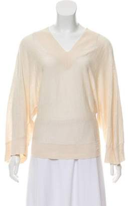 Alice + Olivia V-Neck Linen Sweater