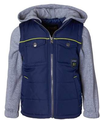 iXtreme Hooded Fleece Sleeve Puffer Vest Jacket (Toddler Boys)