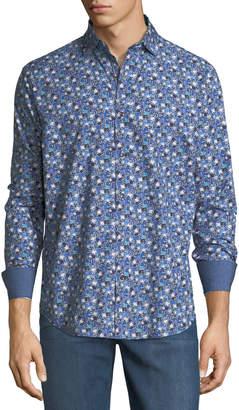 Bugatchi Shaped-Fit Floral Sport Shirt