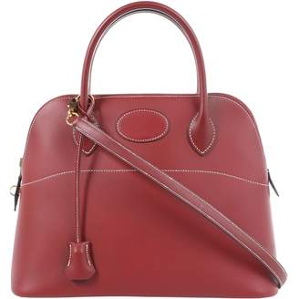 Hermes Bolide Burgundy Leather Handbag
