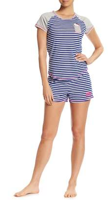 Hello Kitty Striped Short & Tee PJ Set