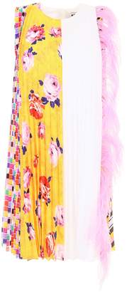 MSGM Feather Detail A-Line Dress