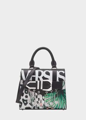 Versace Tropical Collage Iconic Buckle Bag