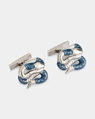 Ted Baker MESTER Coiled snake cufflinks