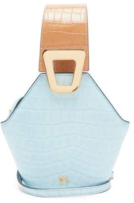 Danse Lente Johnny Xs Crocodile Effect Leather Cross Body Bag - Womens - Blue Multi