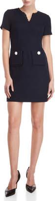 Karl Lagerfeld Paris Tweed Pocket Sheath Dress