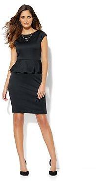 New York & Co. Ponte Peplum Dress