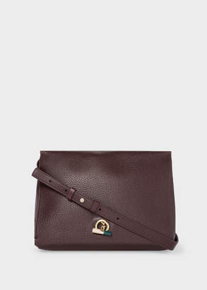 Paul Smith Women's Burgundy T-Bar Leather Shoulder Bag