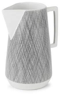 Weave-Print Ceramic Pitcher