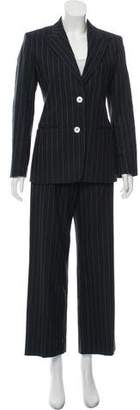 Max Mara Striped Peak-Lapel Pantsuit