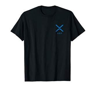 RIPPLE XRP BLUE POCKET LOGO T-SHIRT (Cryptocurrency Coin)