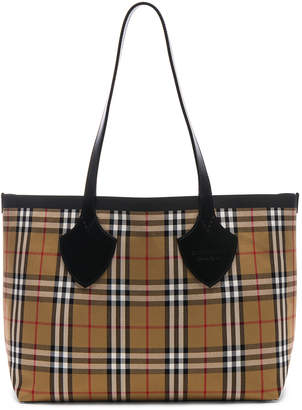 Burberry Reversible Vintage Check Tote in Yellow & Bright Red | FWRD