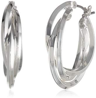 "Anne Klein Classics"" -Tone Triple Ring Hoop Earrings"
