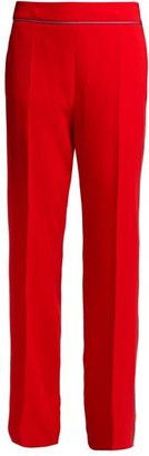 Etro Slim Leg Cady Trousers - Womens - Red