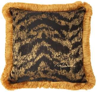 Roberto Cavalli Tiger Jacquard Accent Pillow