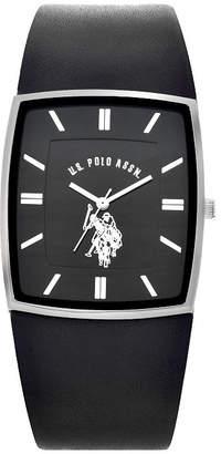 U.S. Polo Assn. USPA Blue Dial Mens Digital Brown Strap Watch-Usc50492jc