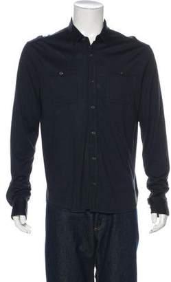 John Varvatos Silk Button-Up Shirt