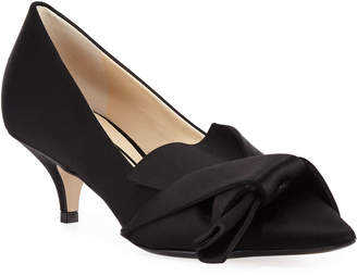 No.21 No. 21 Satin Pumps with Knotted Bow