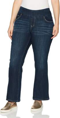 Jag Jeans Women's Petite Plus Size Paley Boot Pull on Jean