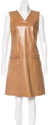 Marc Jacobs Leather Shift Dress