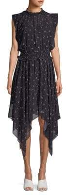 The Kooples Print Handkerchief Dress