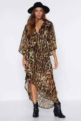Nasty Gal A Love for Leopard Maxi Dress