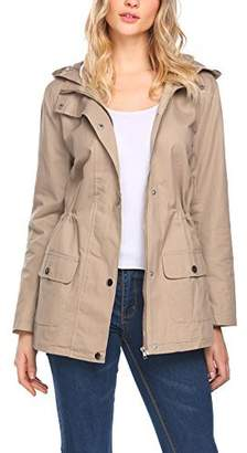 b23d9b0ebd972 Beyove Women s Military Anorak Utility Classic Safari Jacket with Pockets