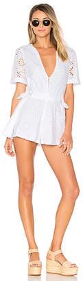 Tularosa x REVOLVE Sandra Romper in White $168 thestylecure.com