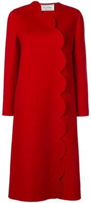 Valentino scallop-trimmed coat