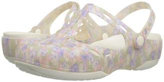 Crocs - Carlie Graphic Cut Out Women's Clog/Mule Shoes $45 thestylecure.com