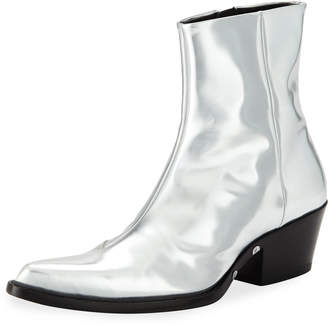Calvin Klein Men's Temo 4 Metallic Leather Boots