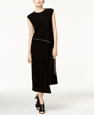 DKNY Draped Asymmetrical Midi Dress $298 thestylecure.com